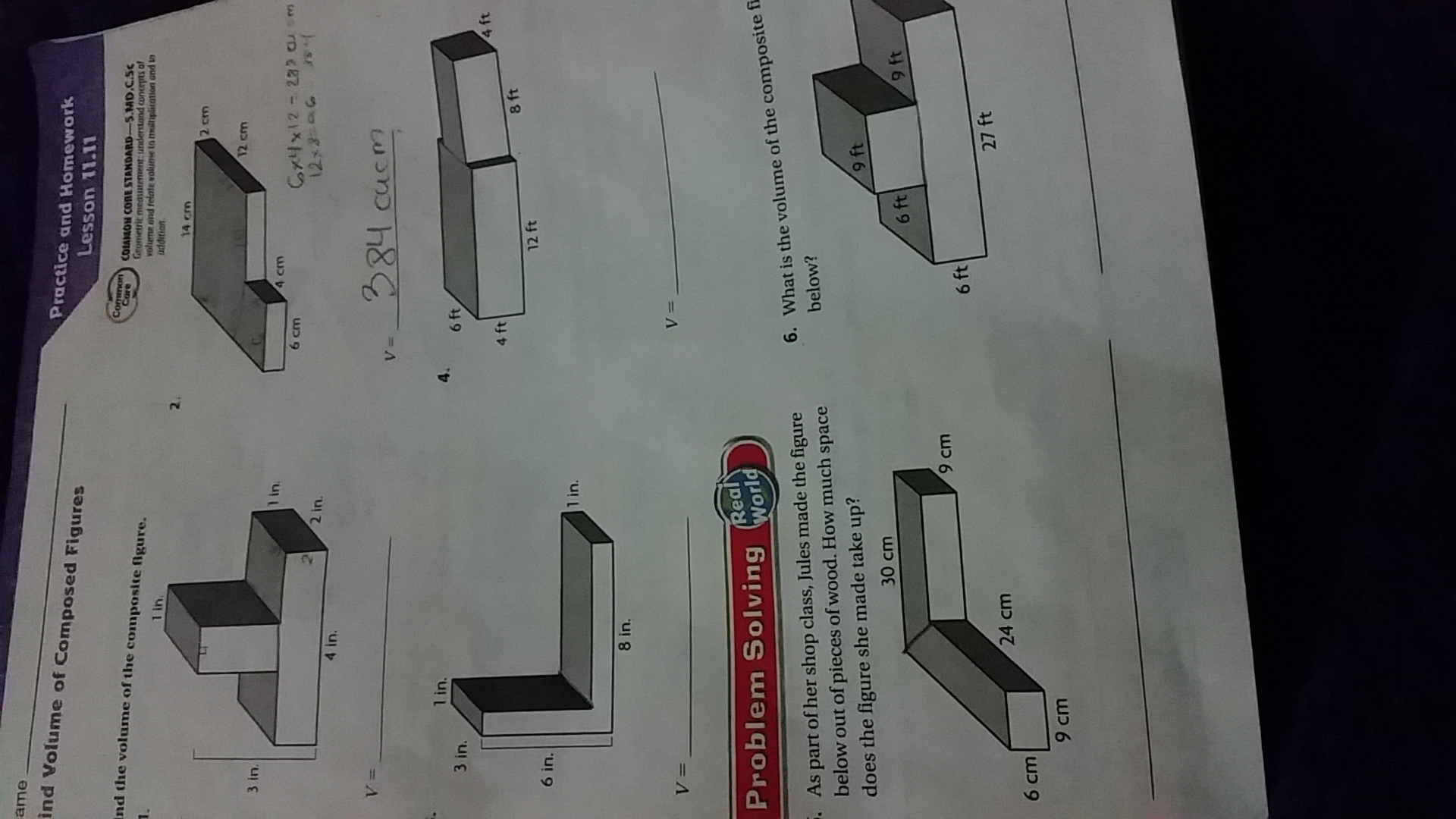 Find The Volume Of The Composite Figure Also I M Not