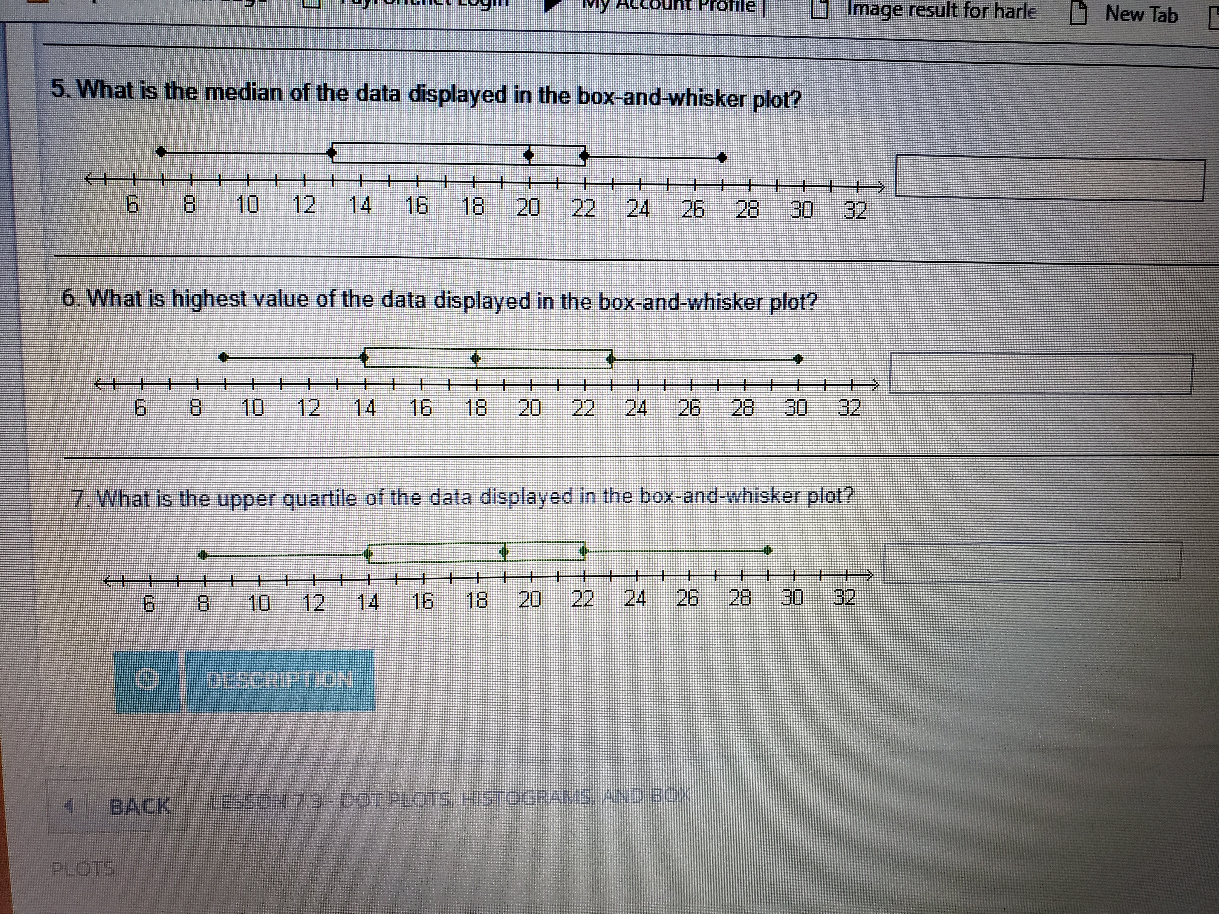 5 What Is The Median Of The Data Displayed In The Box And