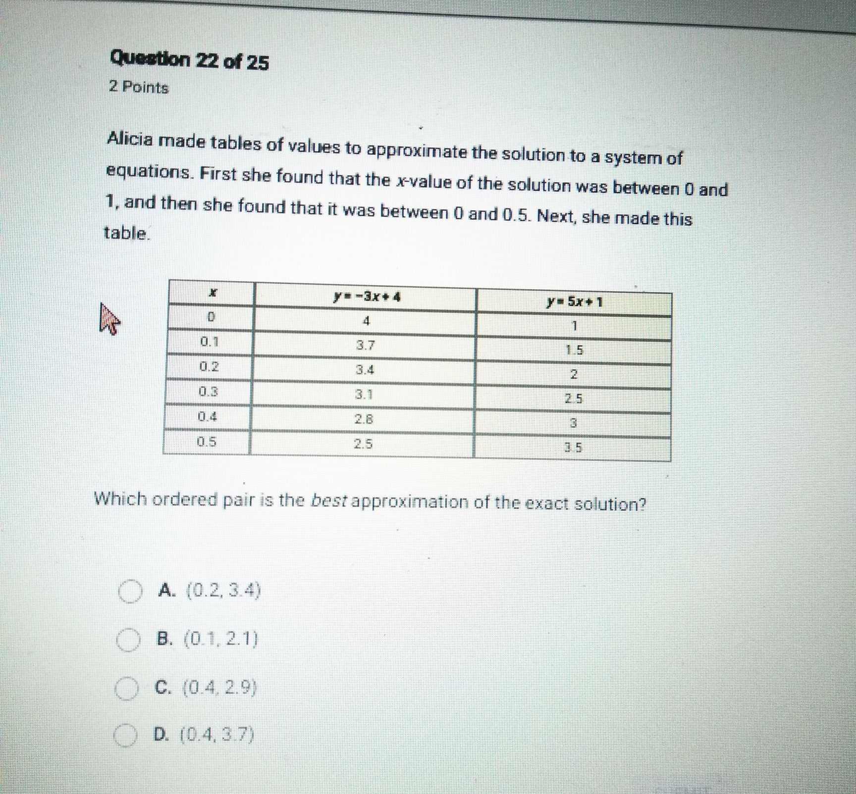 Please Help 20 Points Alicia Made Tables Of Values To
