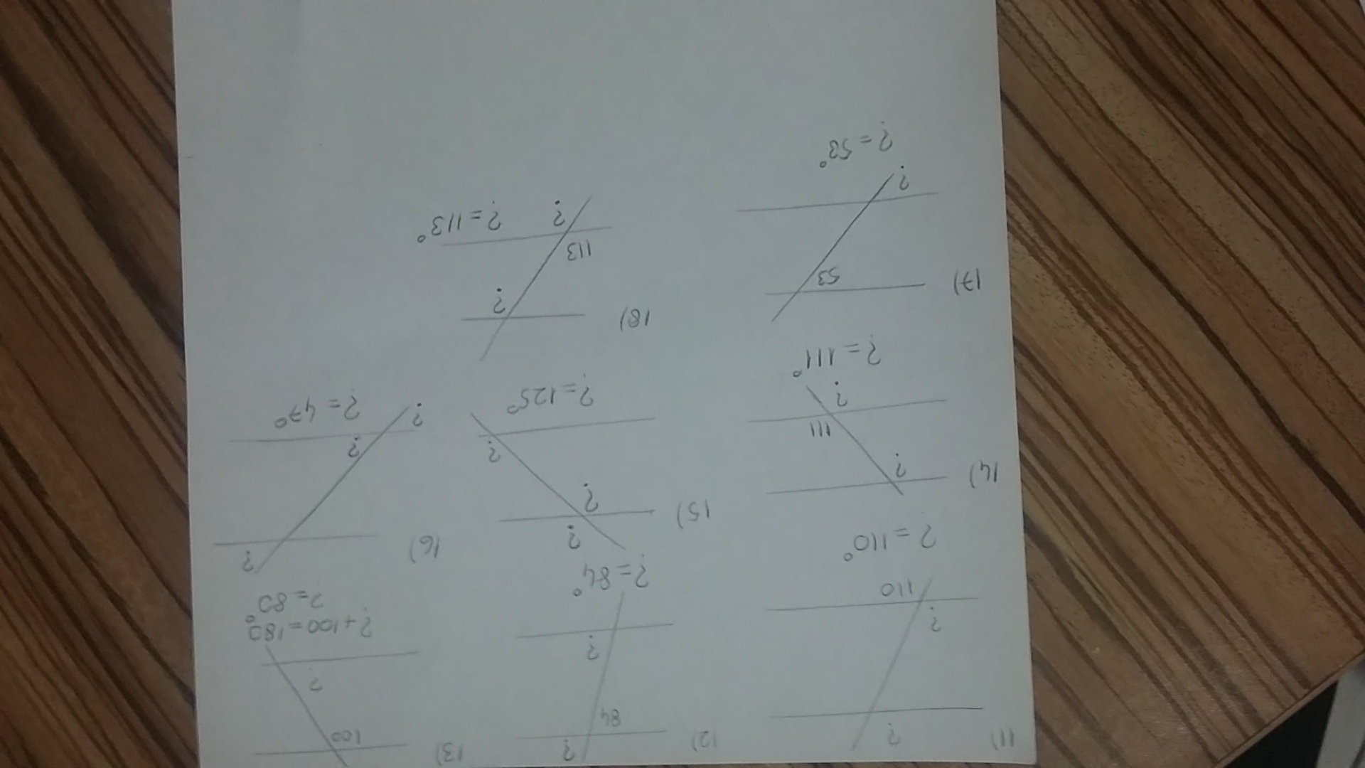 Find The Measure Of Each Angle Indicated