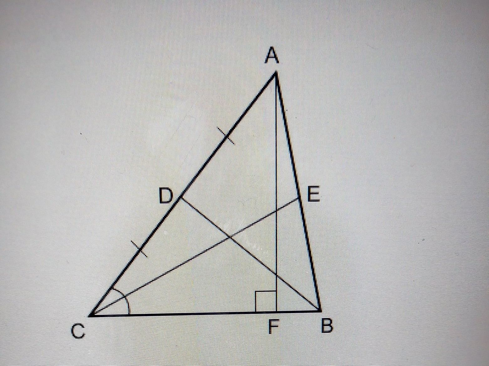 Name An Angle Bisector For Abc A Bdb A F Couldn T Post