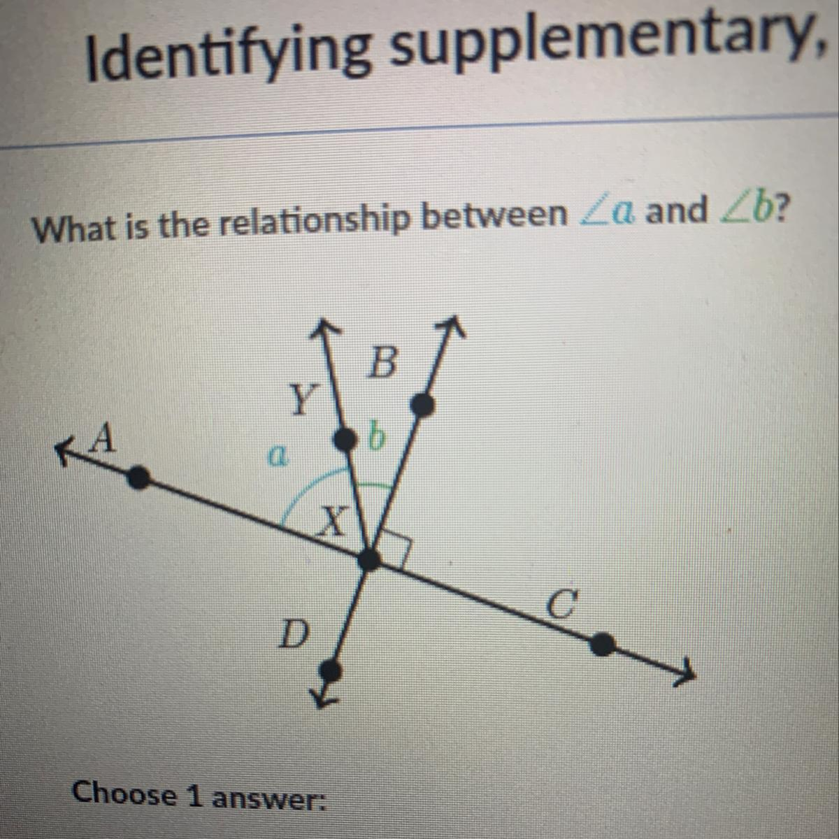 What Is The Relationship Between A Vertical Angles B
