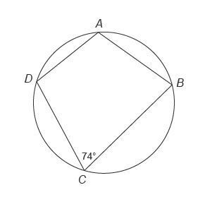 Quadrilateral ABCD is inscribed in this circle. What is