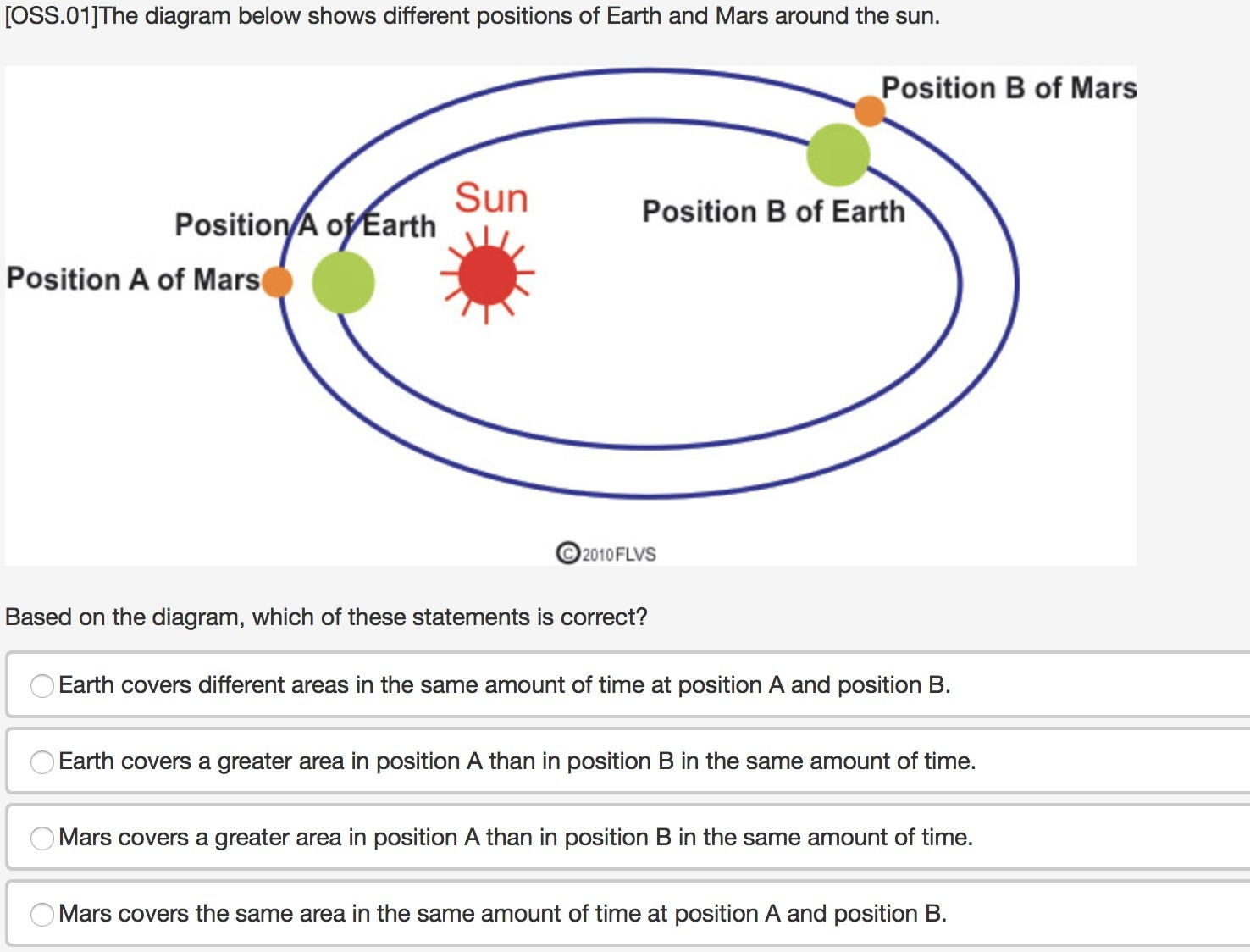 hight resolution of  oss 01 the diagram below shows different positions of earth and mars around the sun based on the diagram which of these statements is correct