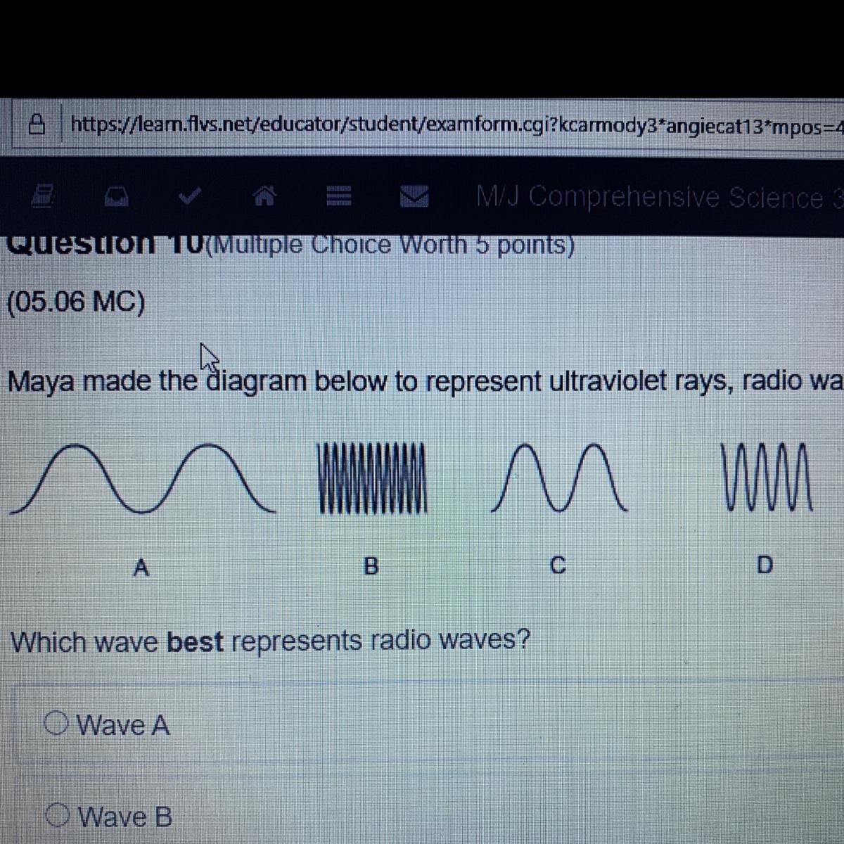 Maya Made The Diagram Below To Represent Ultraviolet Rays