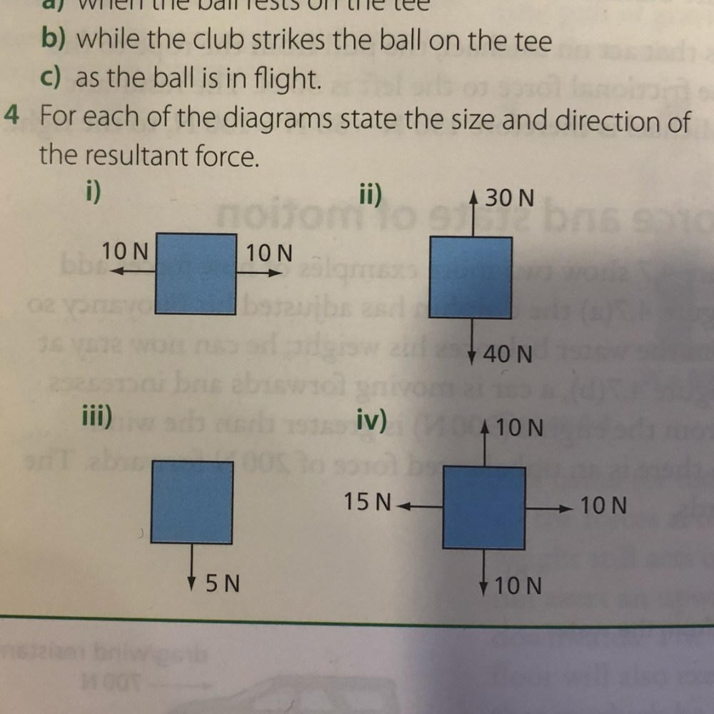 medium resolution of a golf ball is hit of it s tee 200m down the fairway draw diagrams to show all the forces acting on the ball a when the ball rests on the tree