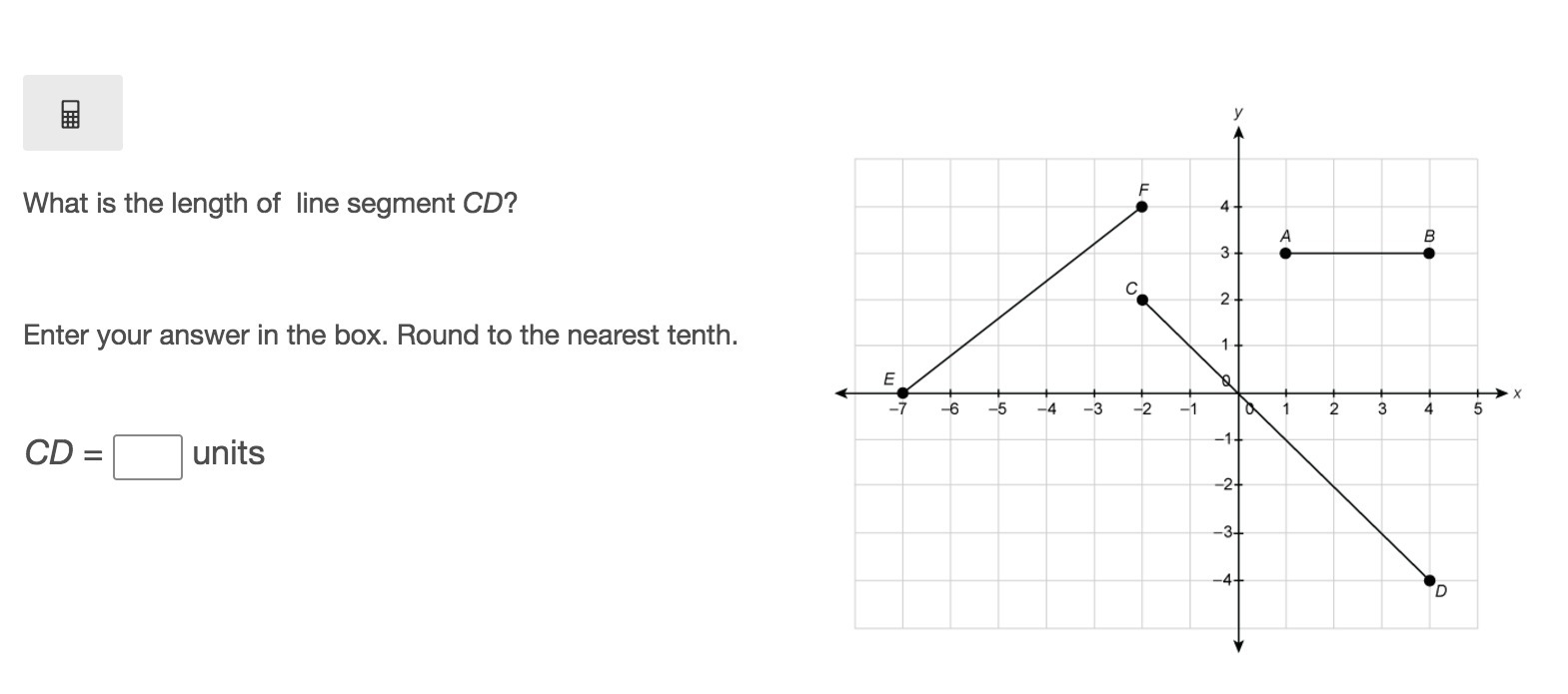 What is the length of line segment CD? Enter your answer