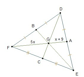 In the diagram, GB = 2x + 3.. What is GB? A.5 units B.10