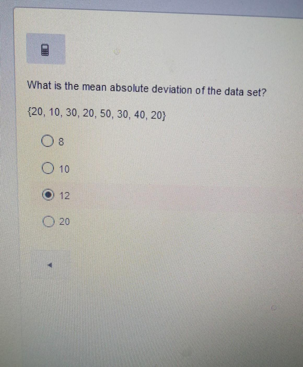 What Is The Mean Absolute Deviation Of The Data Set