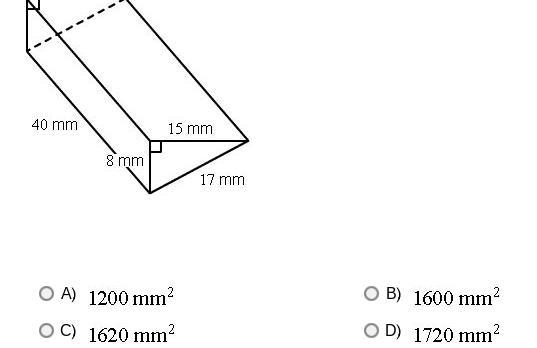 The base of this right prism is a right-angled triangle