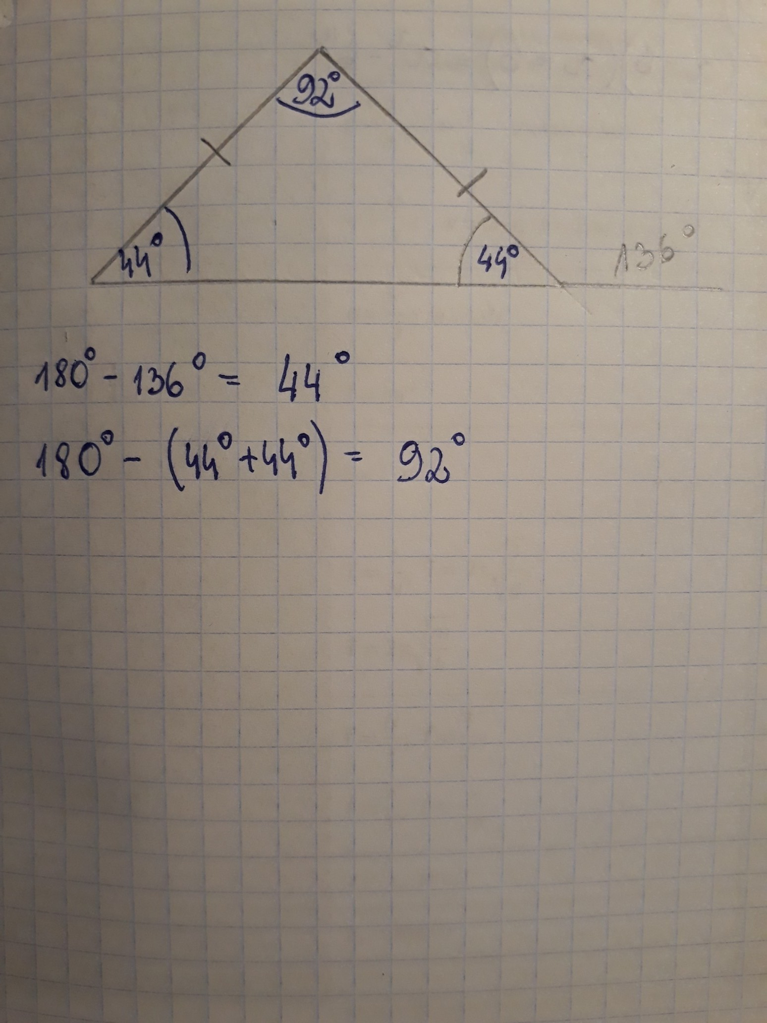 Find The Measure Of The Missing Angles In The Triangle