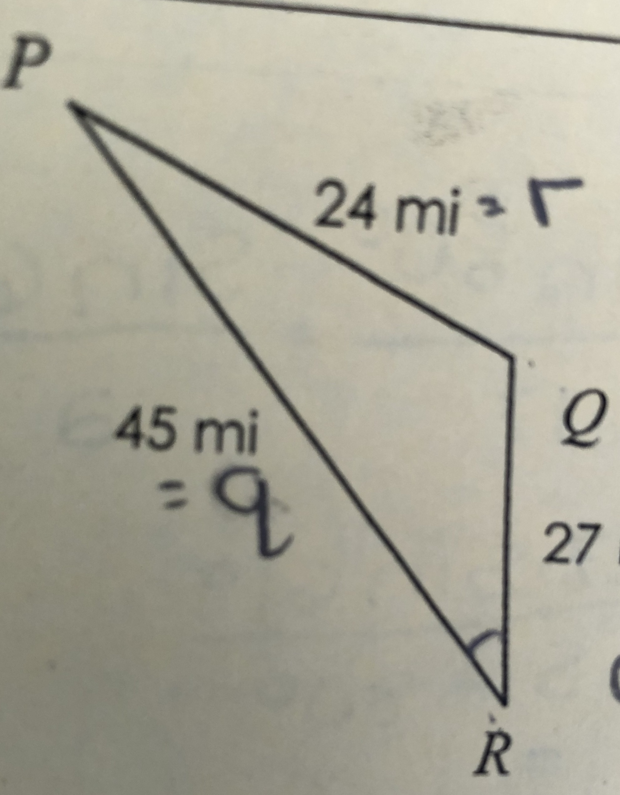 Use The Law Of Sines And Or The Law Of Cosines To Solve