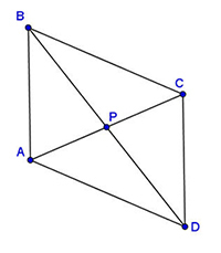 In quadrilateral ABCD, diagonals AC and BD bisect one