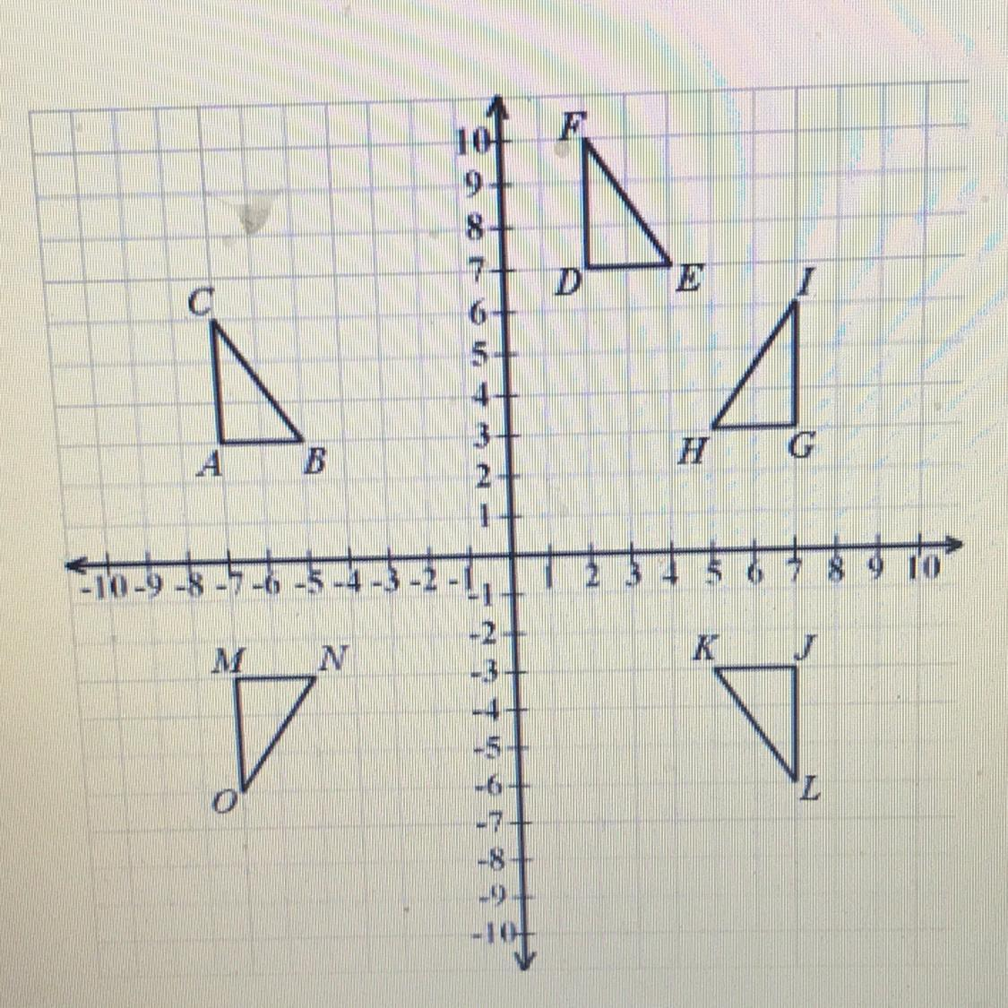 Help Asap Giving Brainliest Which Triangle Is A