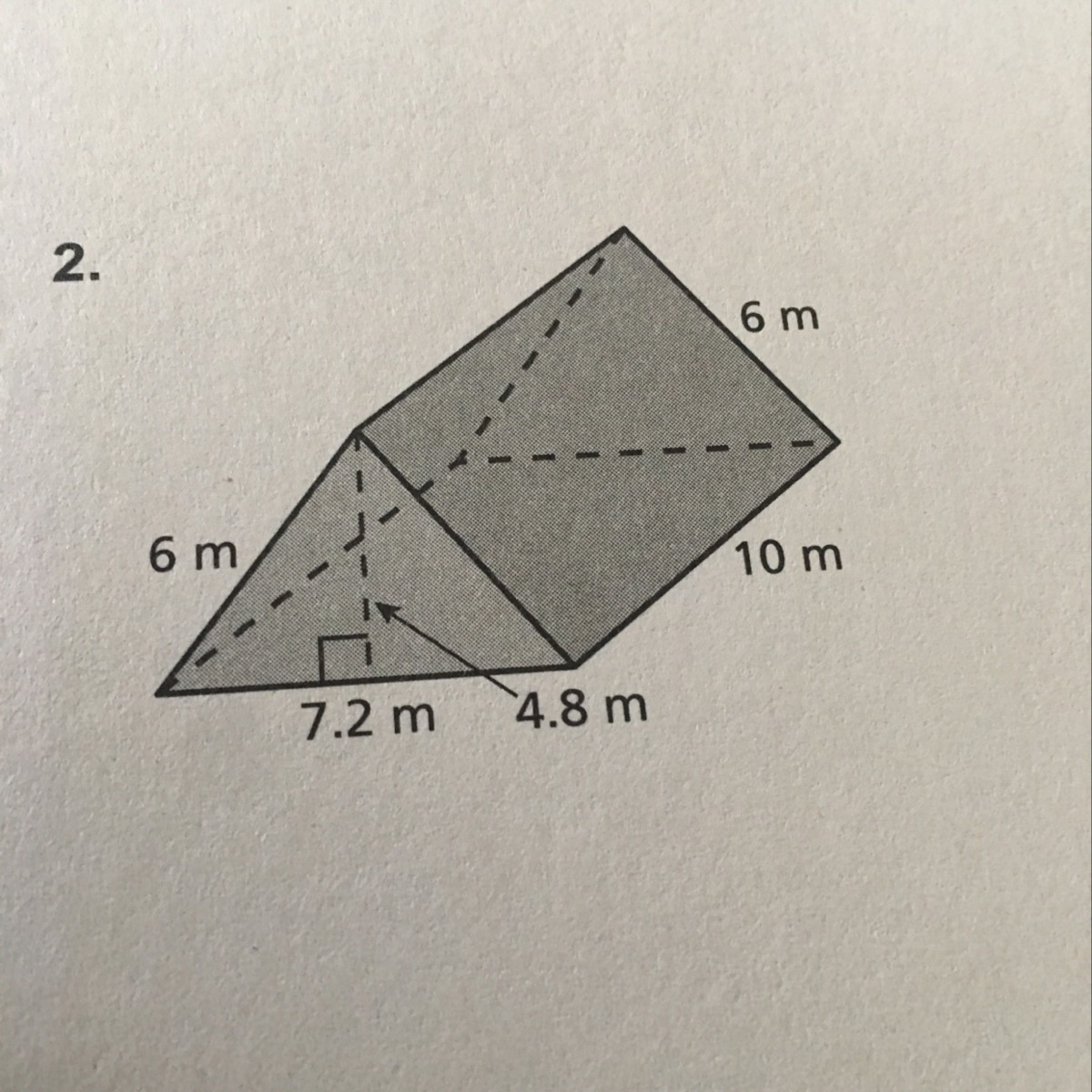 What Is The Surface Area For This Triangular Prism
