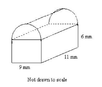 Find the volume of the composite space figure to the