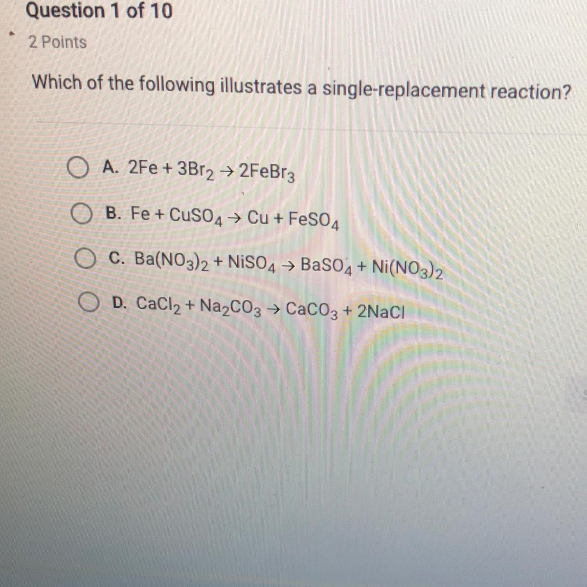 Which Of The Following Is The Answer That Illustrates A