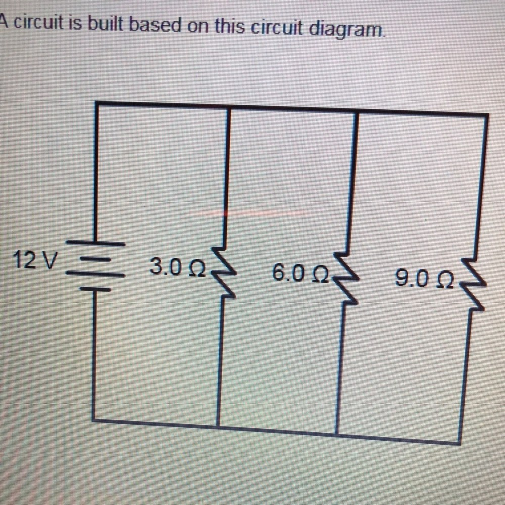 medium resolution of a circuit is built based on this circuit diagram what is the equivalent resistance of the circuit