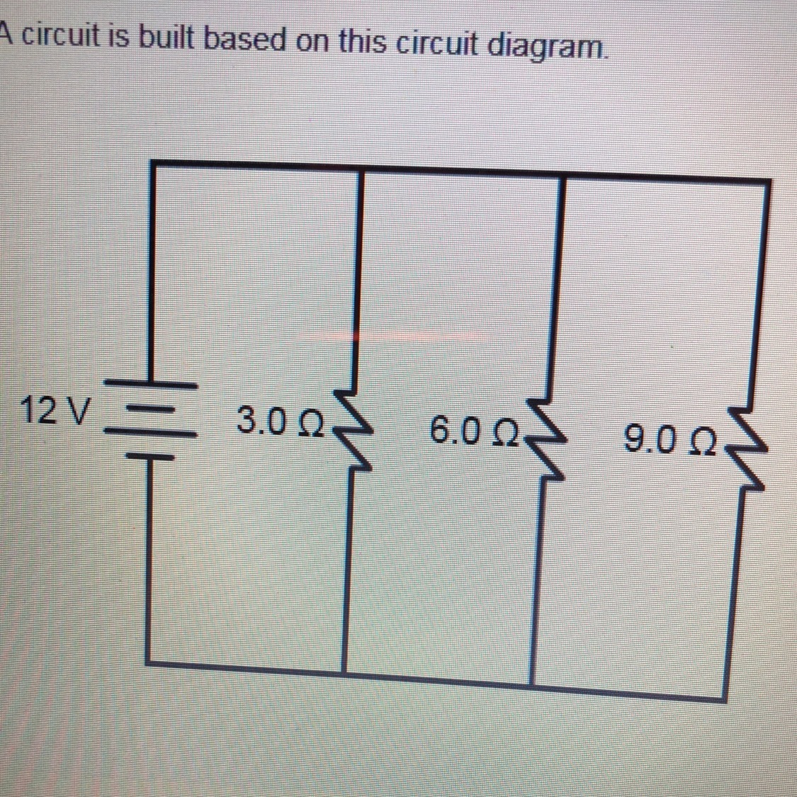 hight resolution of a circuit is built based on this circuit diagram what is the equivalent resistance of the circuit