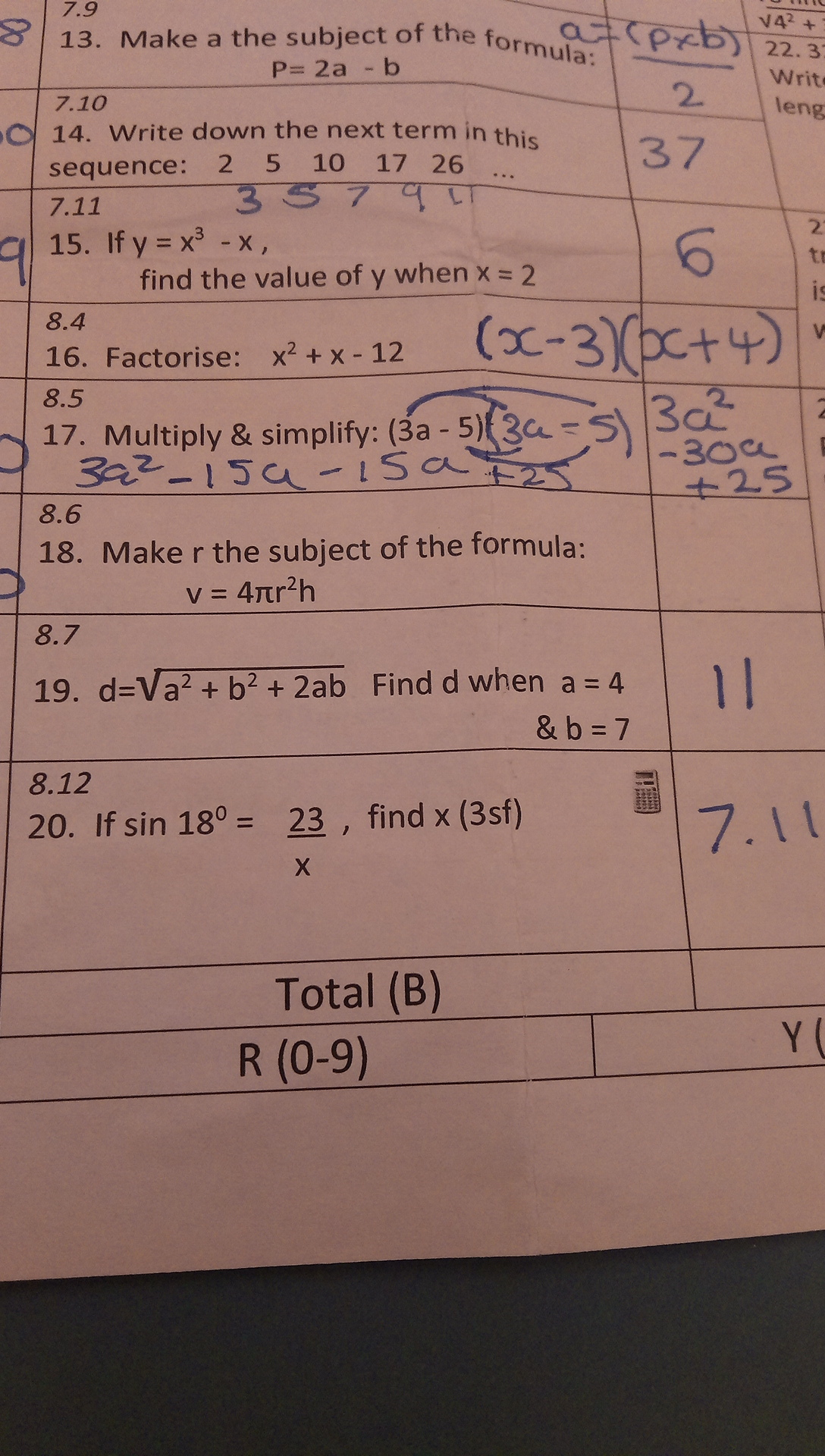 Make R The Subject Of The Formula Q 18