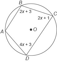 Quadrilateral ABCD is inscribed in circle O. What is m∠C