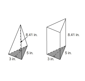 Which statement is true if the triangular prism and the