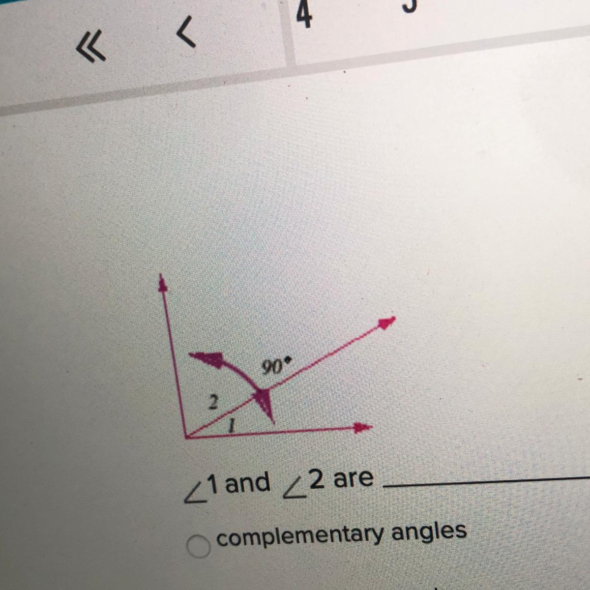 1 And 2 Are Complementary Angles Supplementary Angles
