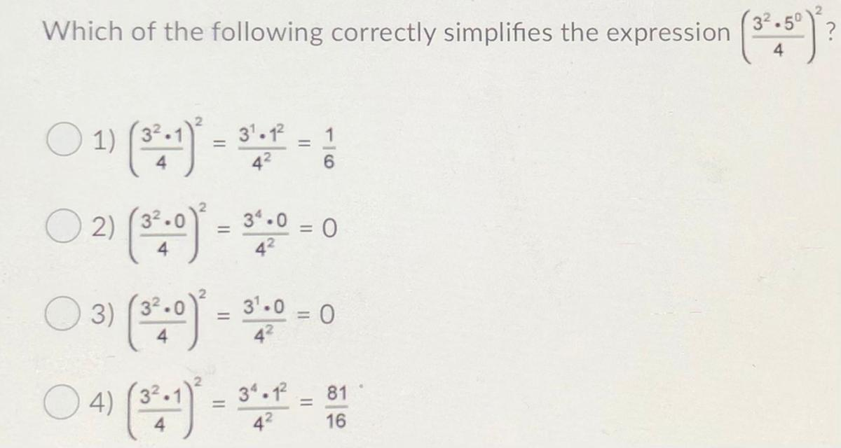 Which of the following correctly simplifies the expression