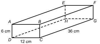 What is the area of a cross section that is parallel to