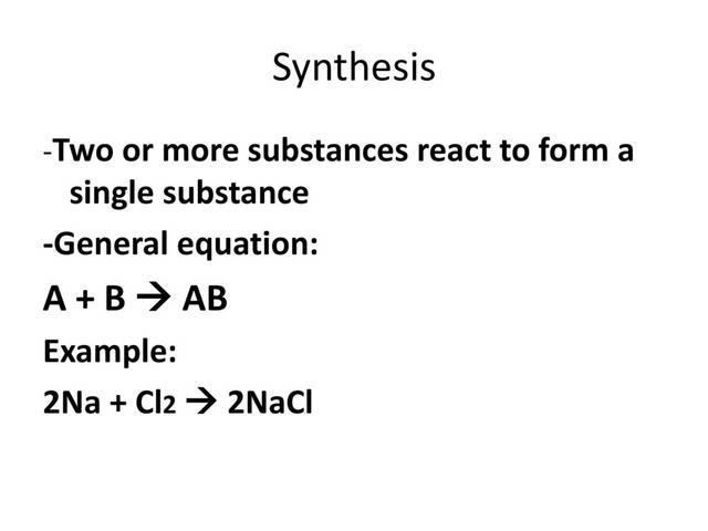 Which of the following reactions is a synthesis reaction