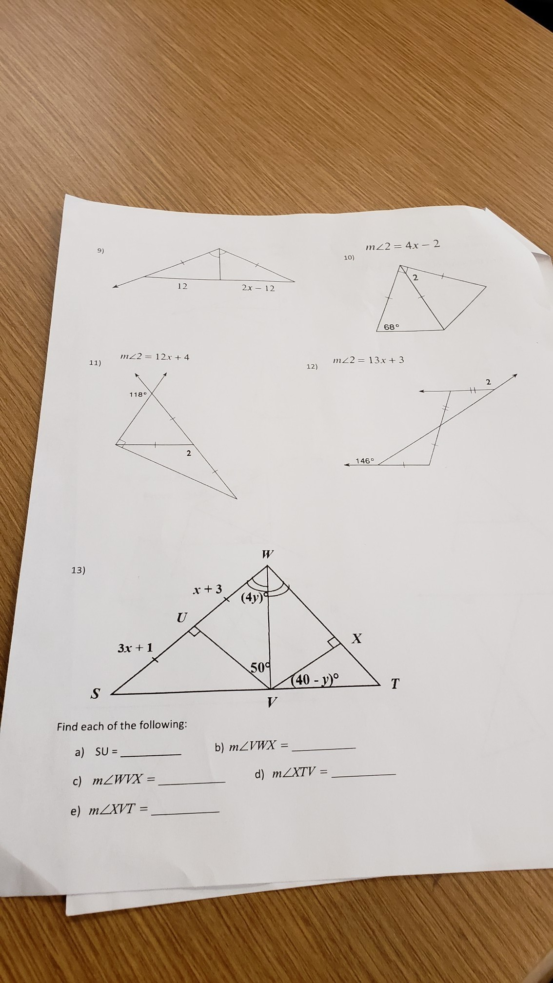 Geometry Isosceles And Equilateral Triangles Find The