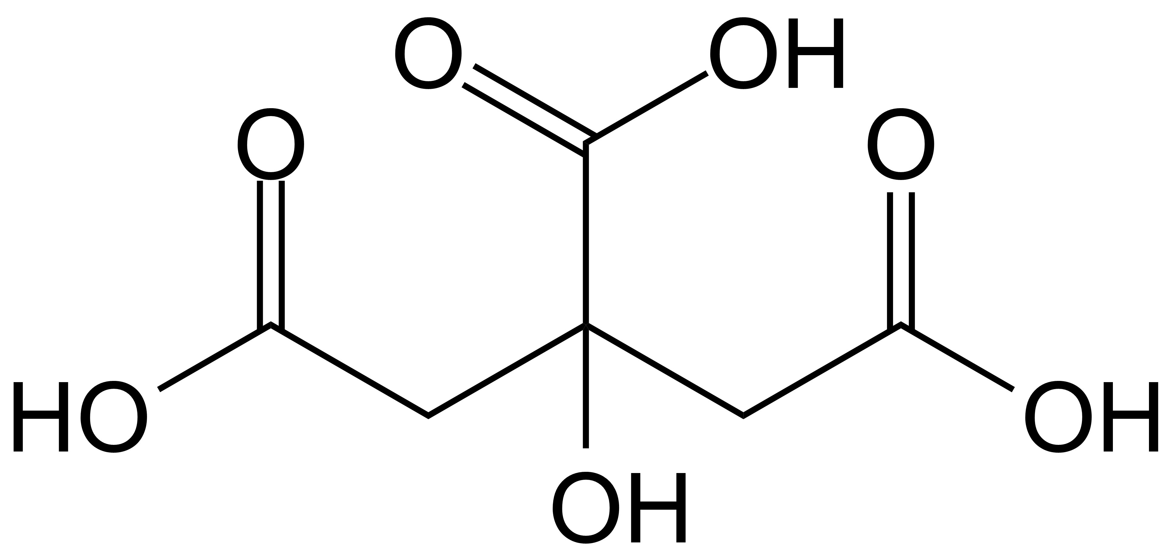 How many h+(aq) can be generated by each citric acid