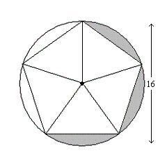 Find the area of the shaded region. Round answers to the
