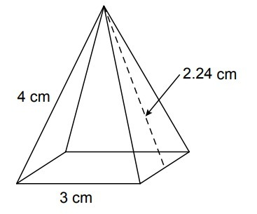 Consider the surface area of the pyramid shown. (a) Draw a