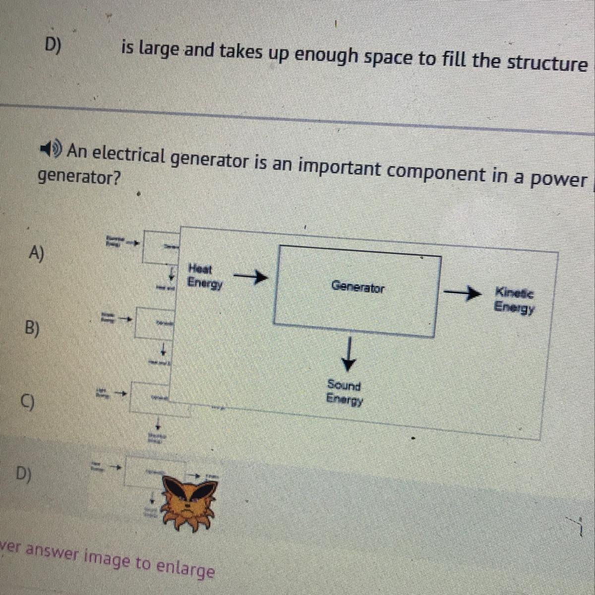 hight resolution of an electrical generator is an important component in a power plant which best shows the energy transfer diagram for a generator