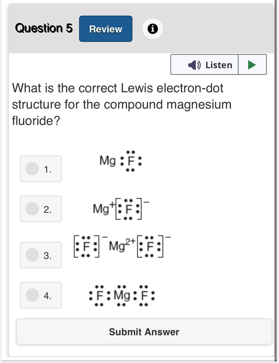 Draw the Lewis dot structure for Mg and Se. Covalent bonds