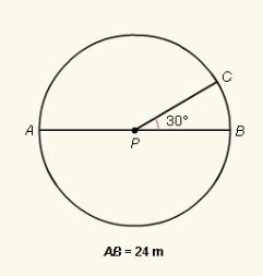 Find the length of (arc) AC. Express your answer in terms