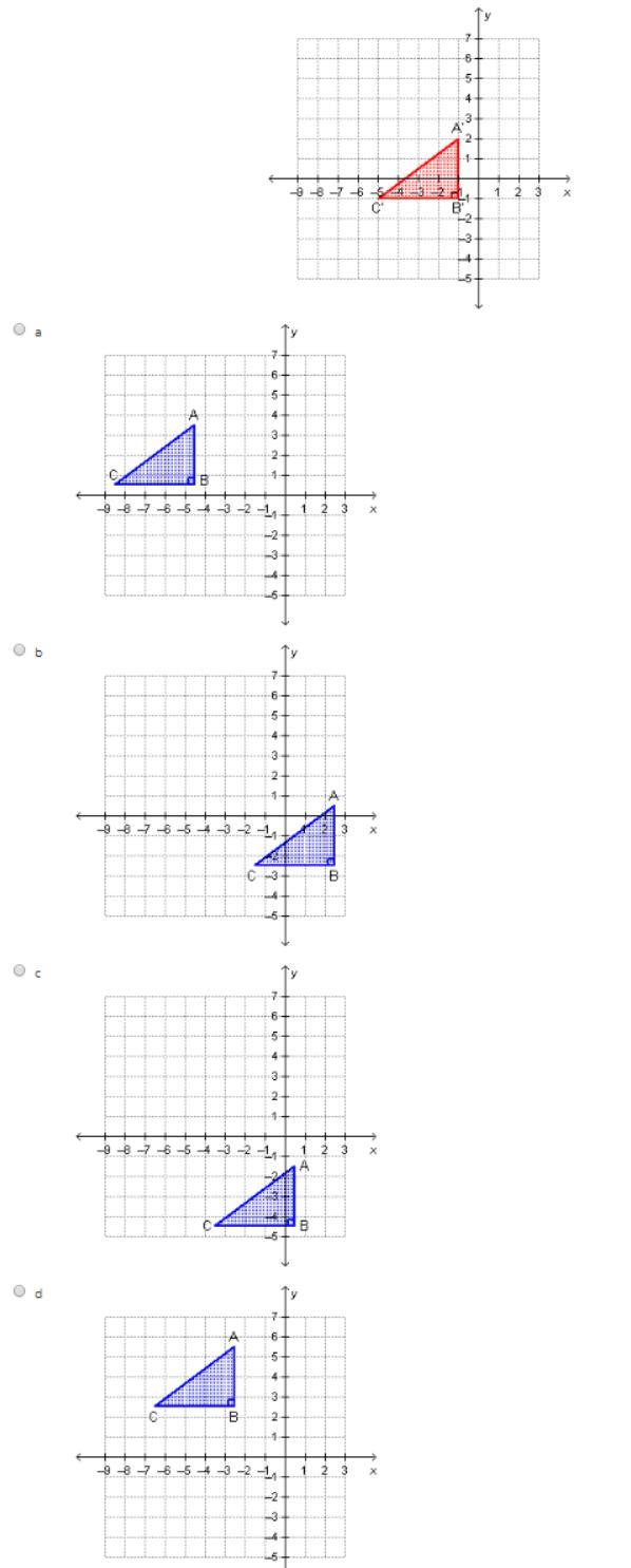 Triangle ABC was translated according to the rule (x, y