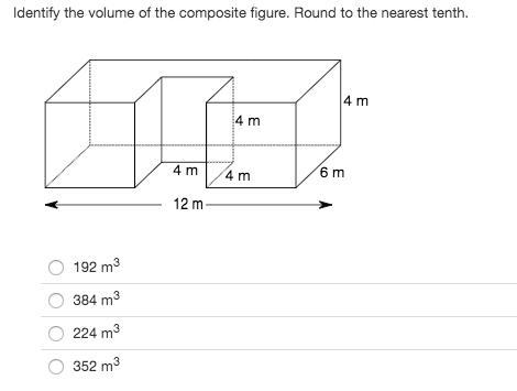 Identify the volume of the composite figure. Round to the
