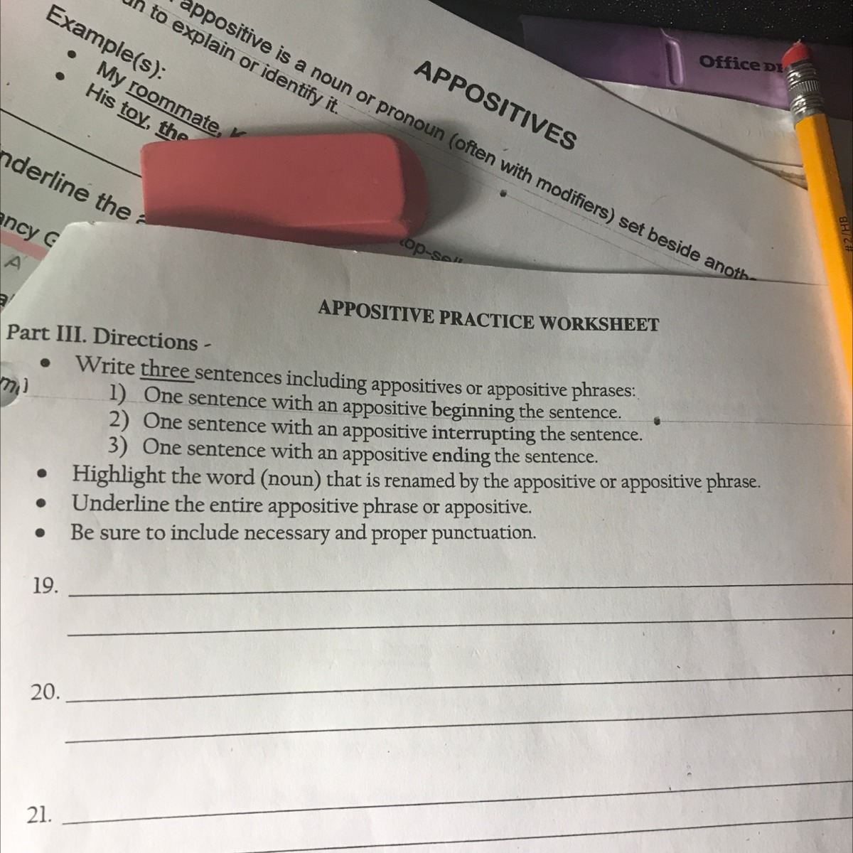 Appositives And Appositive Phrases Worksheet Answers