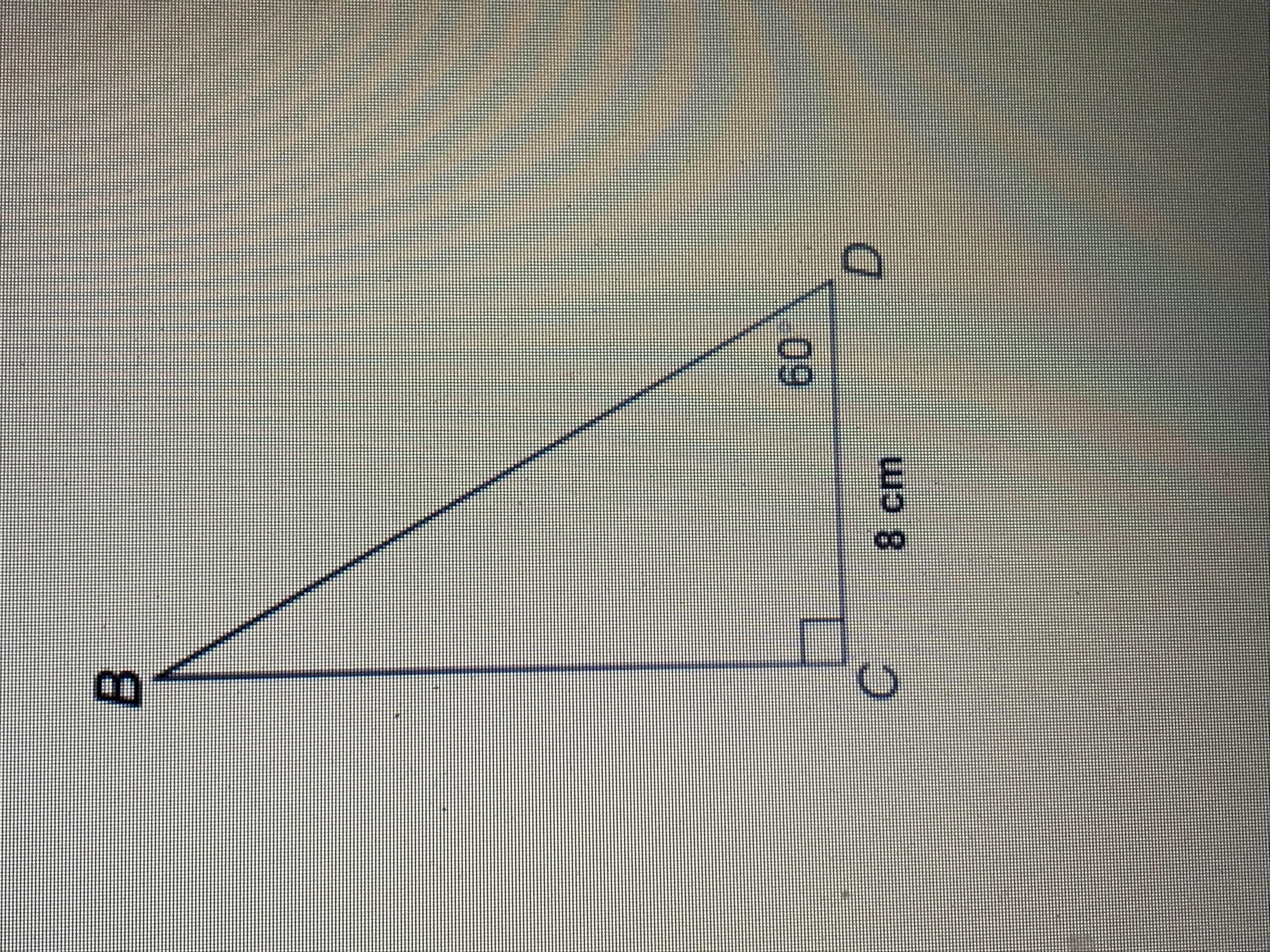 What Is The Area Of Triangle Bcd To The Nearest Tenth Of A