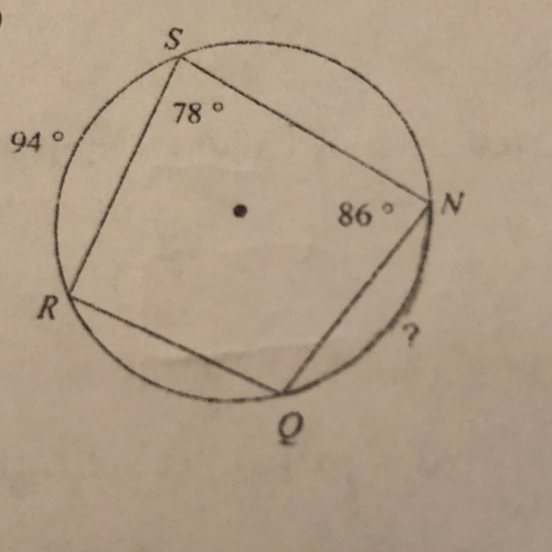 Find The Measure Of The Arc Or Angle Indicated