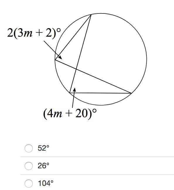 Find the value of the indicated angles. HELP PLEASE