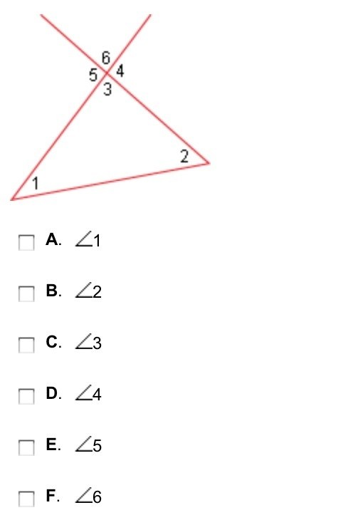 Which of the following are remote interior angles of 5