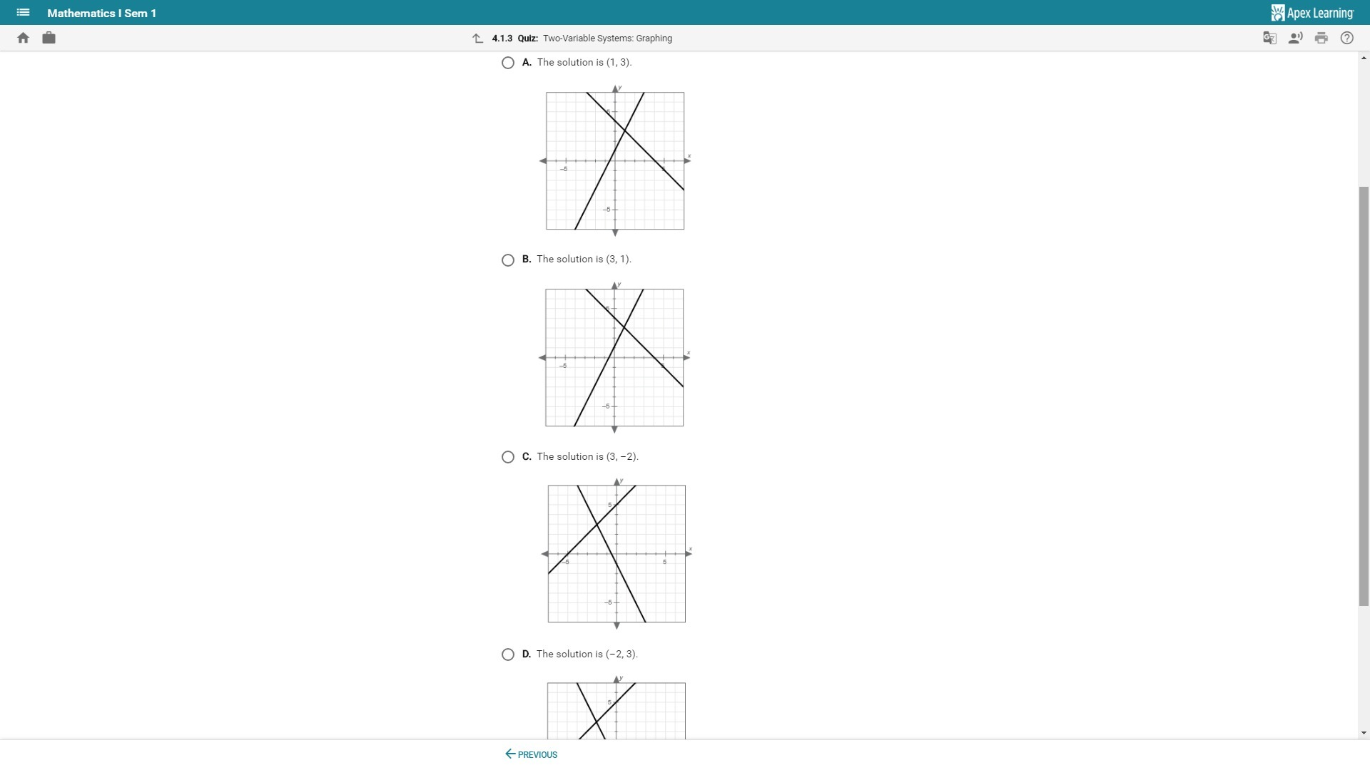 On A Piece Of Paper Graph The System Of Equations Then