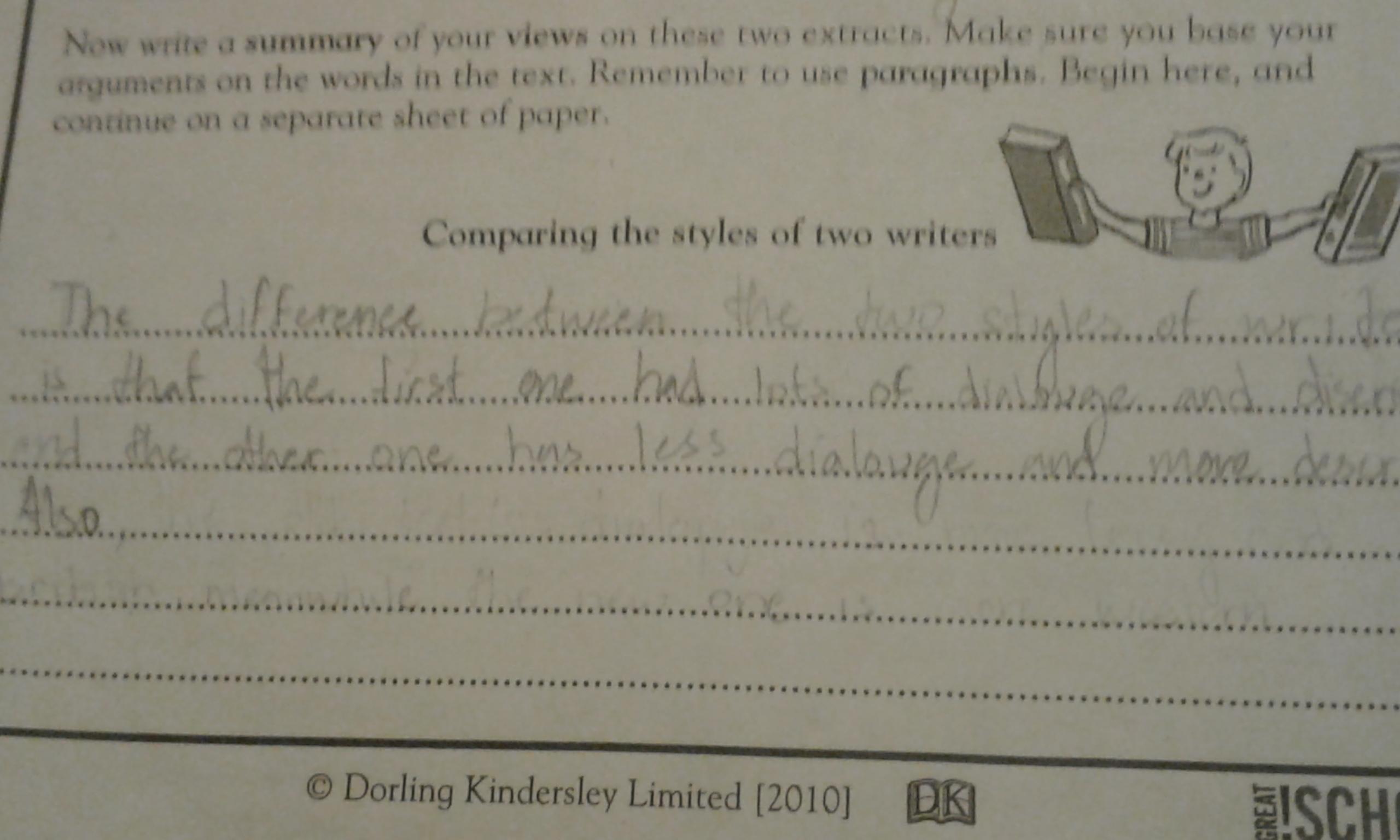 Please Helpparing Two Stories Worksheetdorling Kindersley Limited