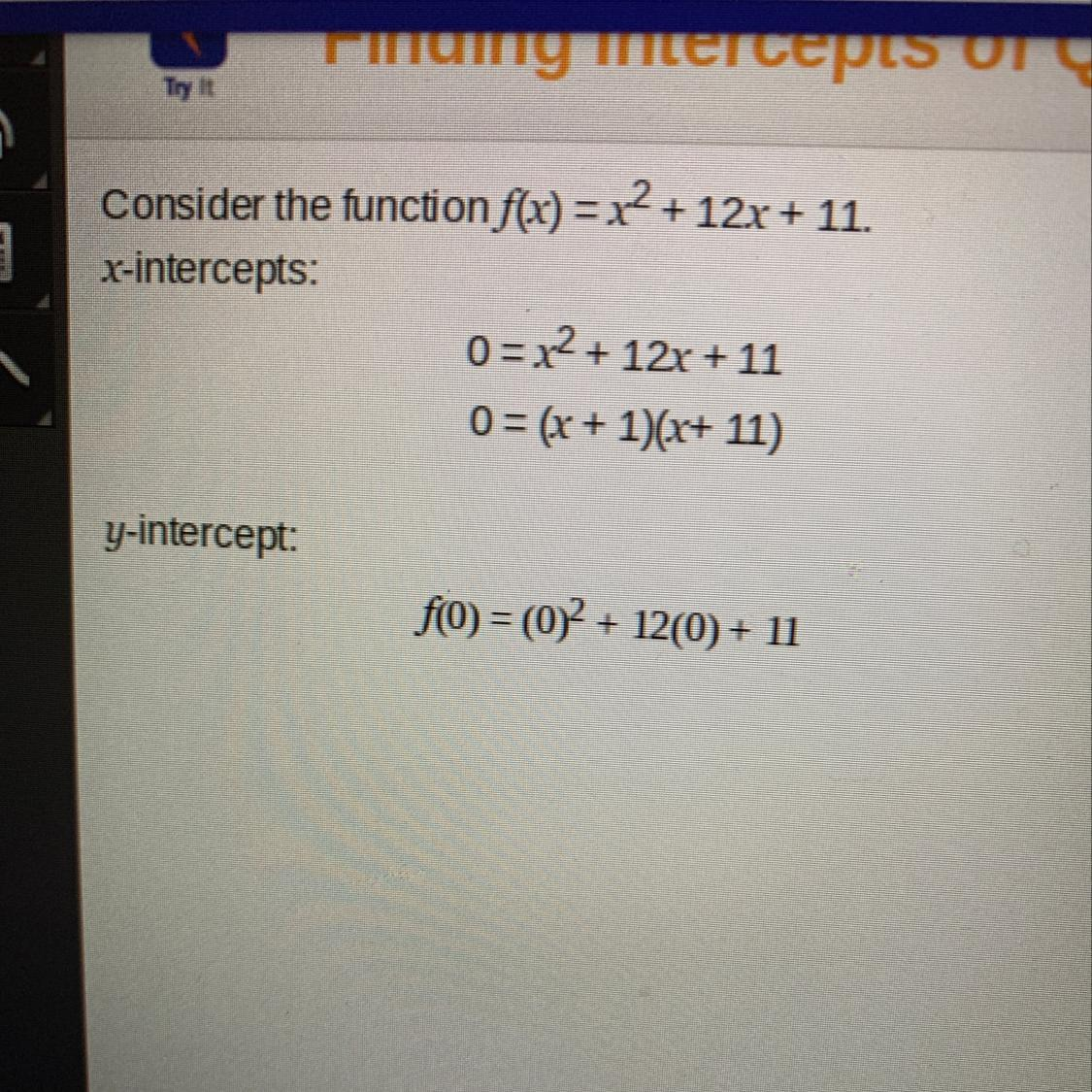 What Are The Intercepts Of The Function The X Intercepts