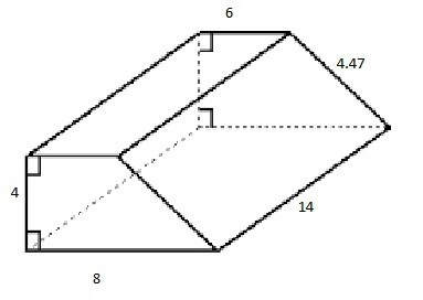Find the total surface area of a trapezoidal prism
