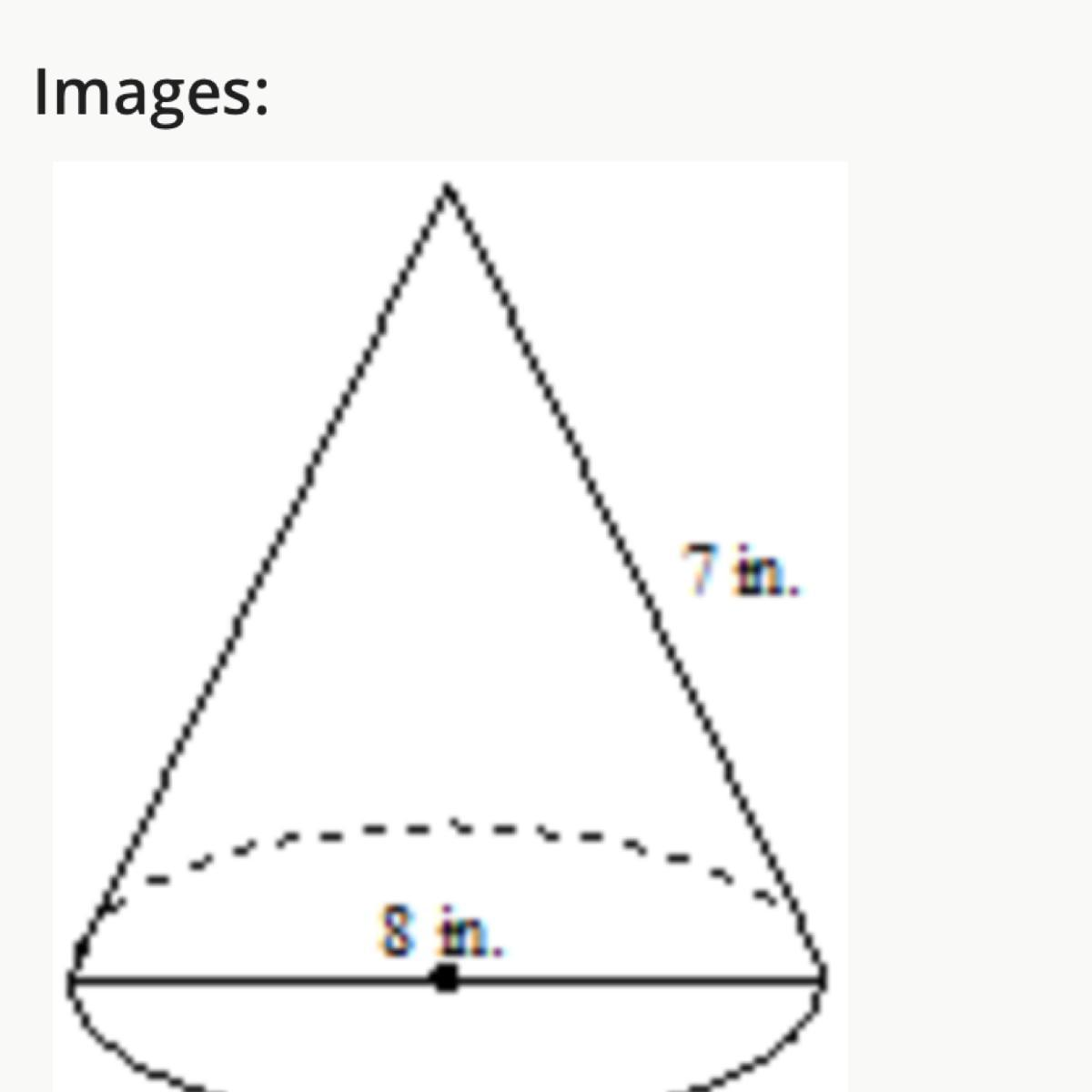 What Is The Surface Area Of The Cone Use 3 14 For