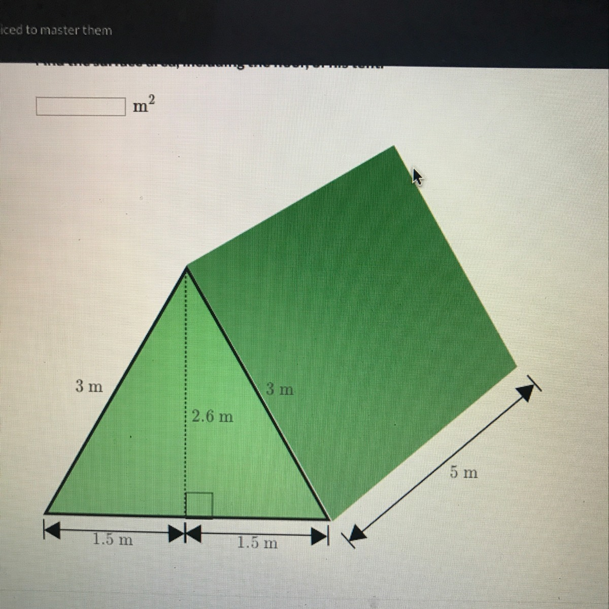 Shaun S Tent Shown Below Is A Triangular Prism What Is